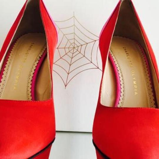 Charlotte Olympia Pink and Red Pumps