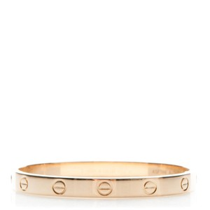 Cartier Love Bangle Bracelet Size 17 Yellow Gold