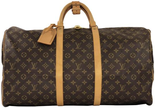 Preload https://img-static.tradesy.com/item/23782547/louis-vuitton-keepall-monogram-55-brown-canvas-weekendtravel-bag-0-1-540-540.jpg