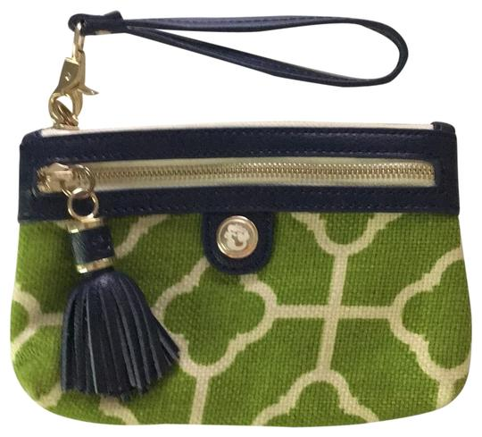 Preload https://item3.tradesy.com/images/spartina-449-tassel-green-ivory-and-navy-linen-leather-wristlet-23782557-0-1.jpg?width=440&height=440