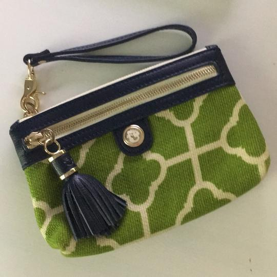 Spartina 449 Wristlet in Green, Ivory and Navy