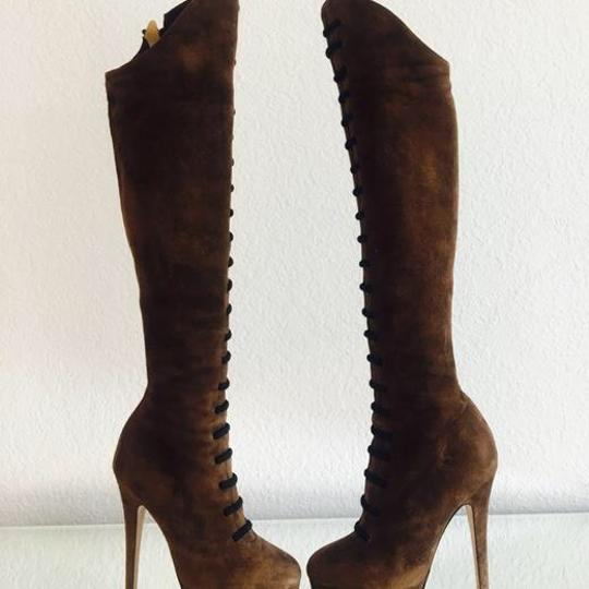 Charlotte Olympia Brown and Black Boots