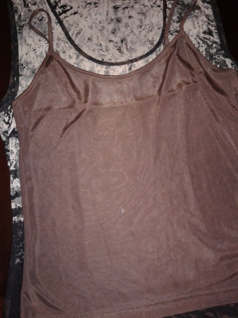 Kenneth Cole Silk Lined Sleeveless Zip Made In China Top black/beige