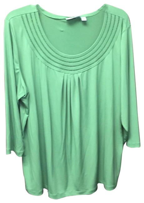 Preload https://item1.tradesy.com/images/susan-graver-lime-ls-nwot-tunic-size-20-plus-1x-23782585-0-1.jpg?width=400&height=650