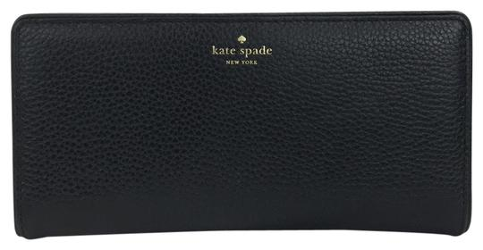 Preload https://img-static.tradesy.com/item/23782596/kate-spade-black-pebbled-leather-bifold-wallet-0-1-540-540.jpg