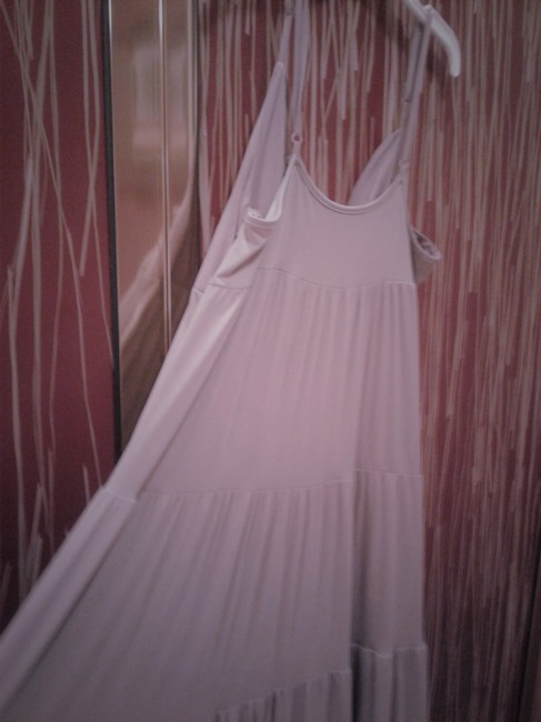 dusty pink Maxi Dress by Alpha Maxi Delicate Straps Multitiered Made In Italy 95% Cotton