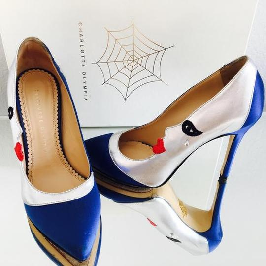 Charlotte Olympia Blue, silver, red, black Pumps