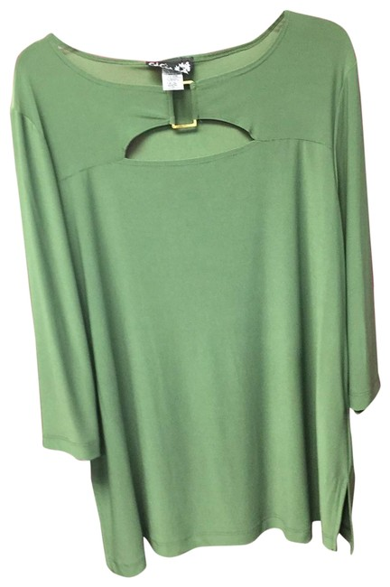 Preload https://item2.tradesy.com/images/green-ls-top-nwt-tunic-size-20-plus-1x-23782636-0-1.jpg?width=400&height=650