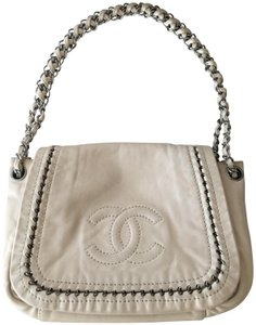 Chanel Leather Chain beige Diaper Bag