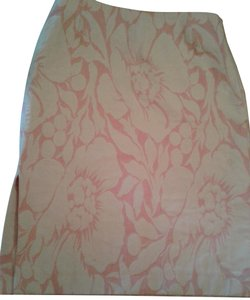 J.Crew Pensil Floral Design Cotton Jaquard Skirt dusty pink