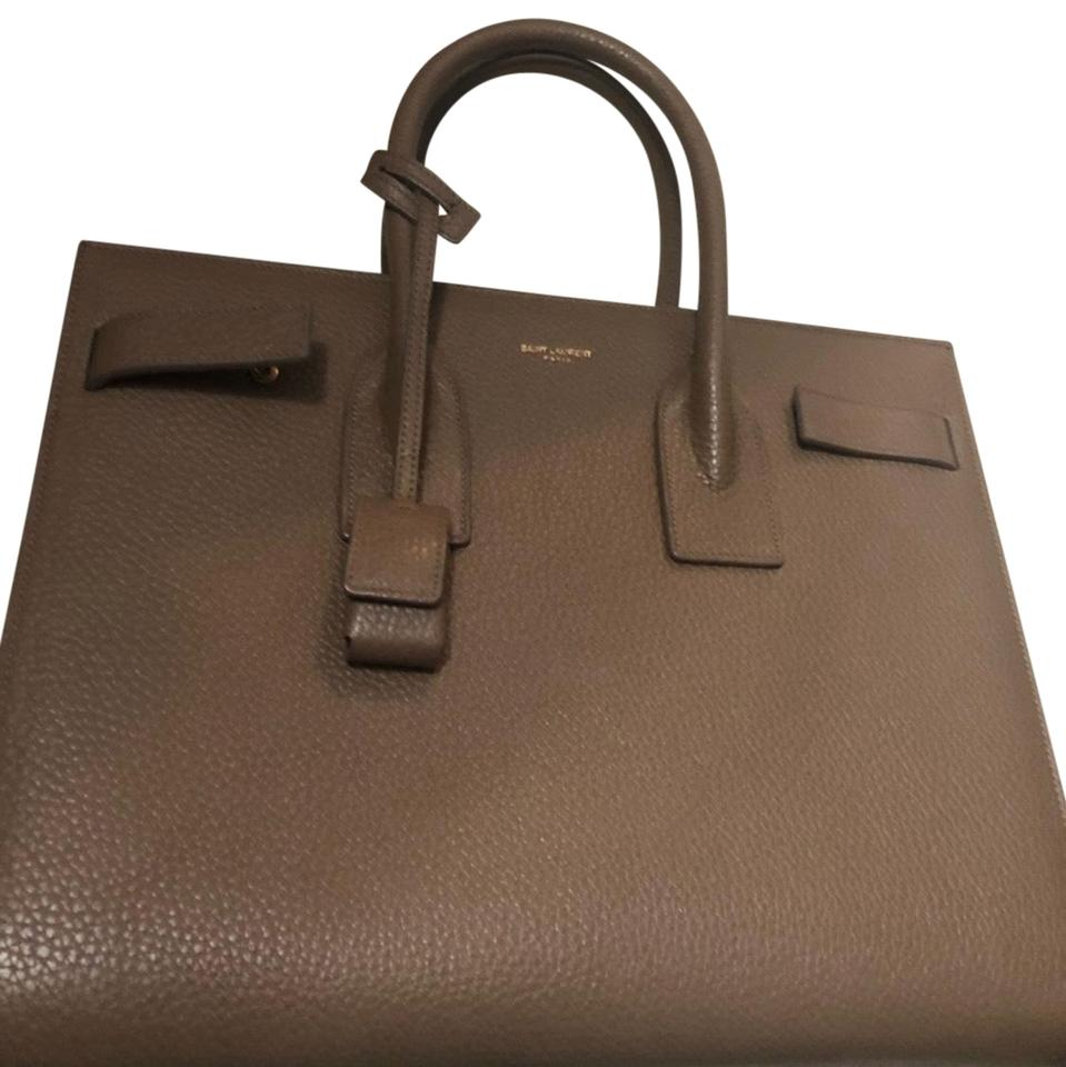 Leather Gray Size Shoulder Calfskin Color Jour Small Laurent Bag Sac Saint de Dusty with ZazfaA