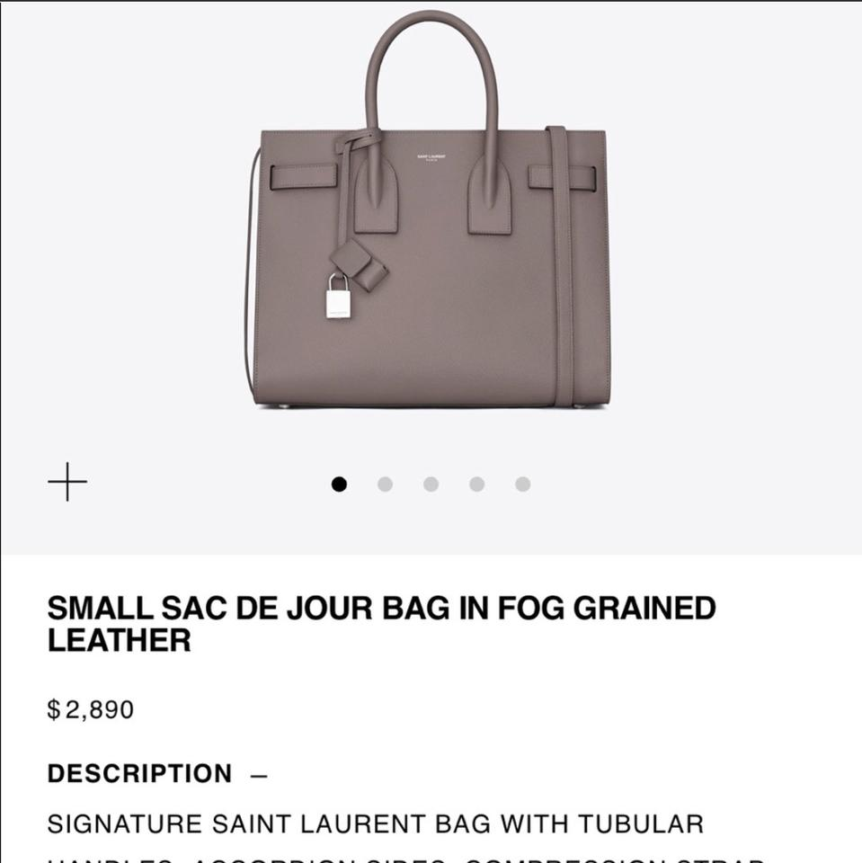Leather Sac Dusty Gray Size Bag Shoulder Small Laurent with Jour Saint de Color Calfskin w0qxHzWP5