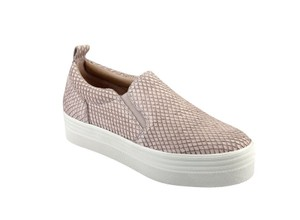 Marc Fisher Platform Sneaker. Snakeskin Print Light Pink Athletic