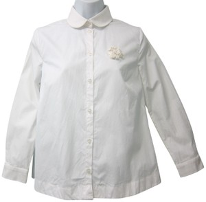 Simone Rocha Button Down Shirt white