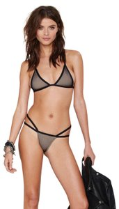 Minimale Animale Nasty Gal XS 0 Swimsuit Alpha Female Mesh Strap Bikini Bandit Top Lady