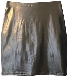 Forever 21 Metallic Bodycon Night Out Party Mini Skirt Silver