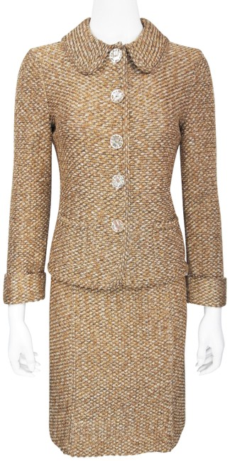 Item - Gold Knit Skirt Suit Size 6 (S)