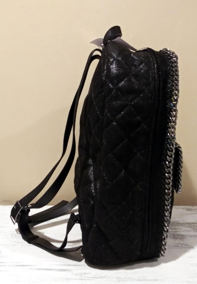 Stella Faux Black Quilted Backpack Rucksack McCartney Leather zzq8SHv