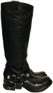 Miu Miu Motorcycle Tall Leather Brown Boots