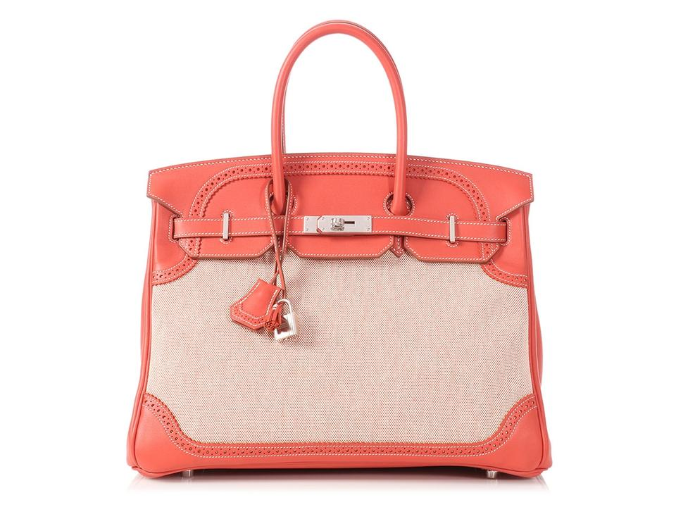Hermès Coral Leather Hr.p0622.05 Tassels Reduced Price Satchel in Red ... 095f9e127