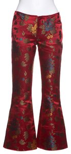 MARQUES'ALMEIDA Flare Pants Red