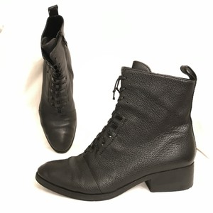 3.1 Phillip Lim Leather Granny Combat Military Ankle Black Boots