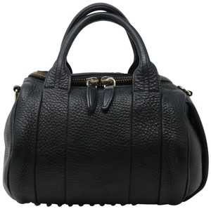 Alexander Wang Studded Rocco Fumo Marion Runway Fashion Satchel in Black