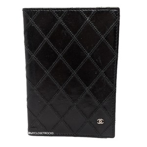 Chanel Chanel Black Quilted Passport Cover / Case
