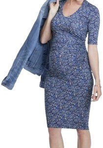 Isabella Oliver Liberty Print Ruched Maternity T-shirt dress