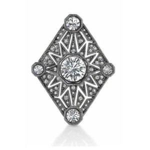 House of Harlow 1960 Palladium Plated Triangle Ring