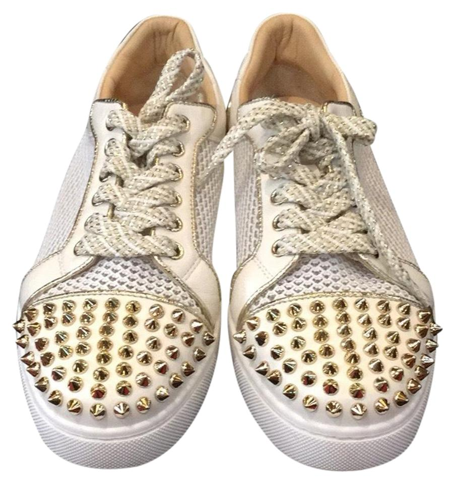 a9aeb8daa24b Christian Louboutin White Ac Viera Spikes Red Sole Low-top Sneakers Sneakers