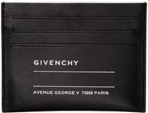 Givenchy Givenchy Black Iconic Print Card Holder