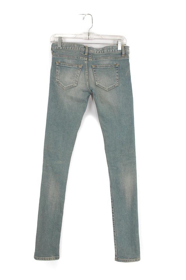 Skinny Distressed Laurent Saint D01 Light Jeans Blue wpXtqHB4