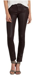 Joie Coated Denim Leather Color Skinny Jeans-Coated