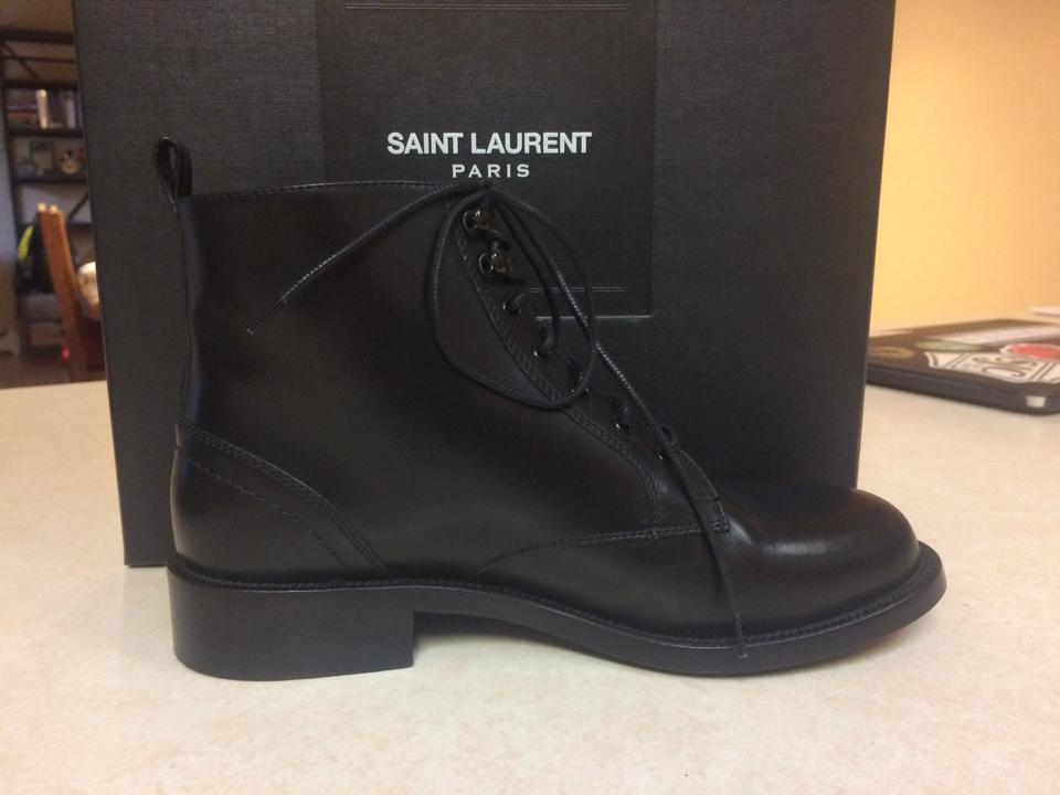 Laurent Black Booties Boxer Saint Boots HRdq454