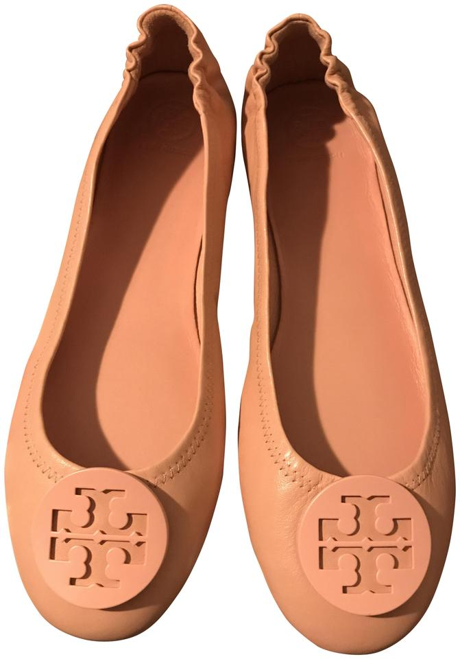 95b8faf65 Tory Burch Blush Pink Minnie Travel Logo Ballet Flats Size US 10.5 ...