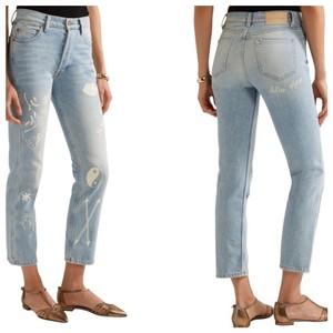 Bliss and Mischief Straight Leg Jeans-Light Wash