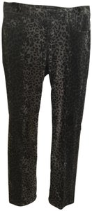 Christopher Blue Boot Cut Pants leopard print