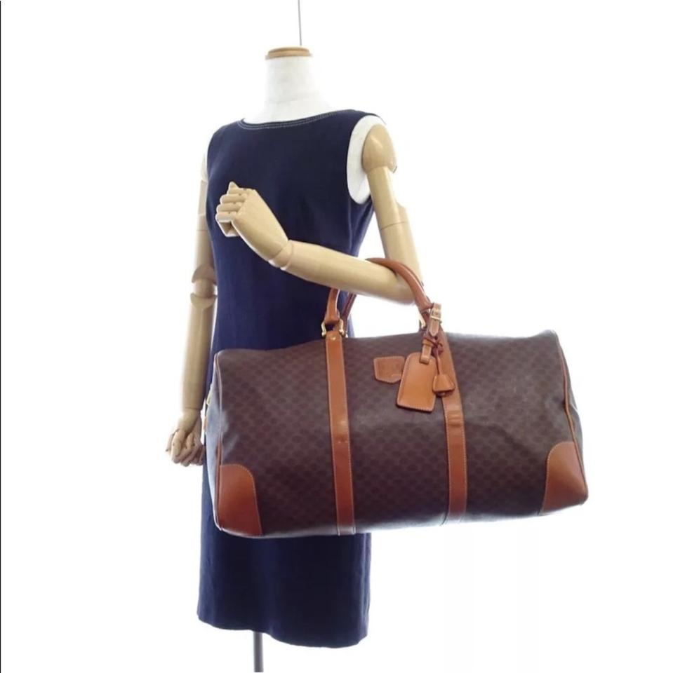 Travel Weekend Patent Brown Céline Leather Macadam Bag qHAX78w