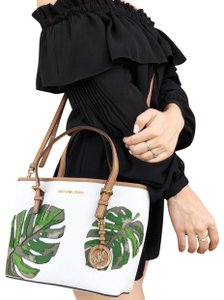 0adc73202ea4ea Michael Kors Jet Set Travel Xs Small Carryall Tote Palm Leaf Optic ...