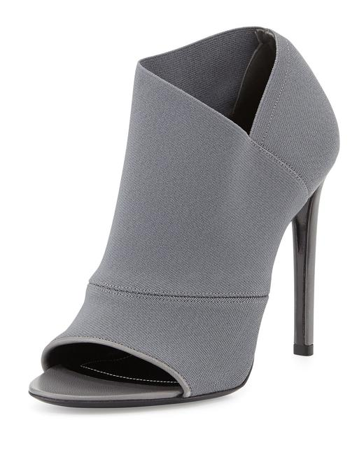 Item - Grey 39.5it Paris Stretch Open-toe Ankle 115 High Heel Lady Fashion Boots/Booties Size EU 39.5 (Approx. US 9.5) Regular (M, B)