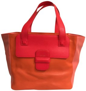 851c954793bc Marc Jacobs Purse Handbag Satchel Shoulder Color-blocking Tote in Orange  Pink Red Multi