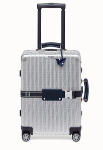 Fendi Rimowa Suitcase Luggage Carry Steel silver Travel Bag