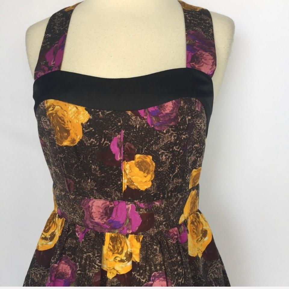 405b040f06 Anthropologie Purple Twinkle By Wenlan Silken Trellis Floral Short Cocktail  Dress Size 4 (S) - Tradesy