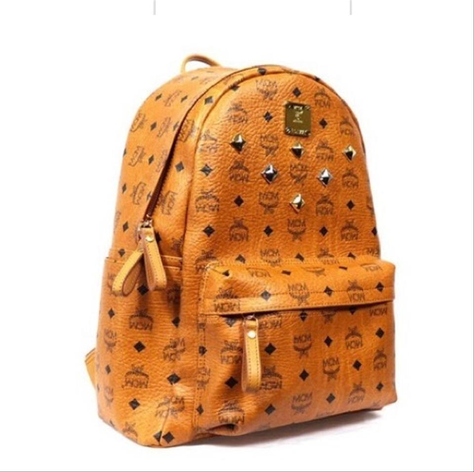 Studded MCM Leather MCM Cognac Backpack Leather Cognac Studded Backpack 67B6w