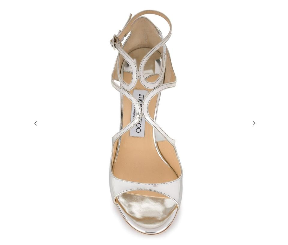 Leather Lang Mirror Silver Choo Sandals Strappy Jimmy CPqXa6wn