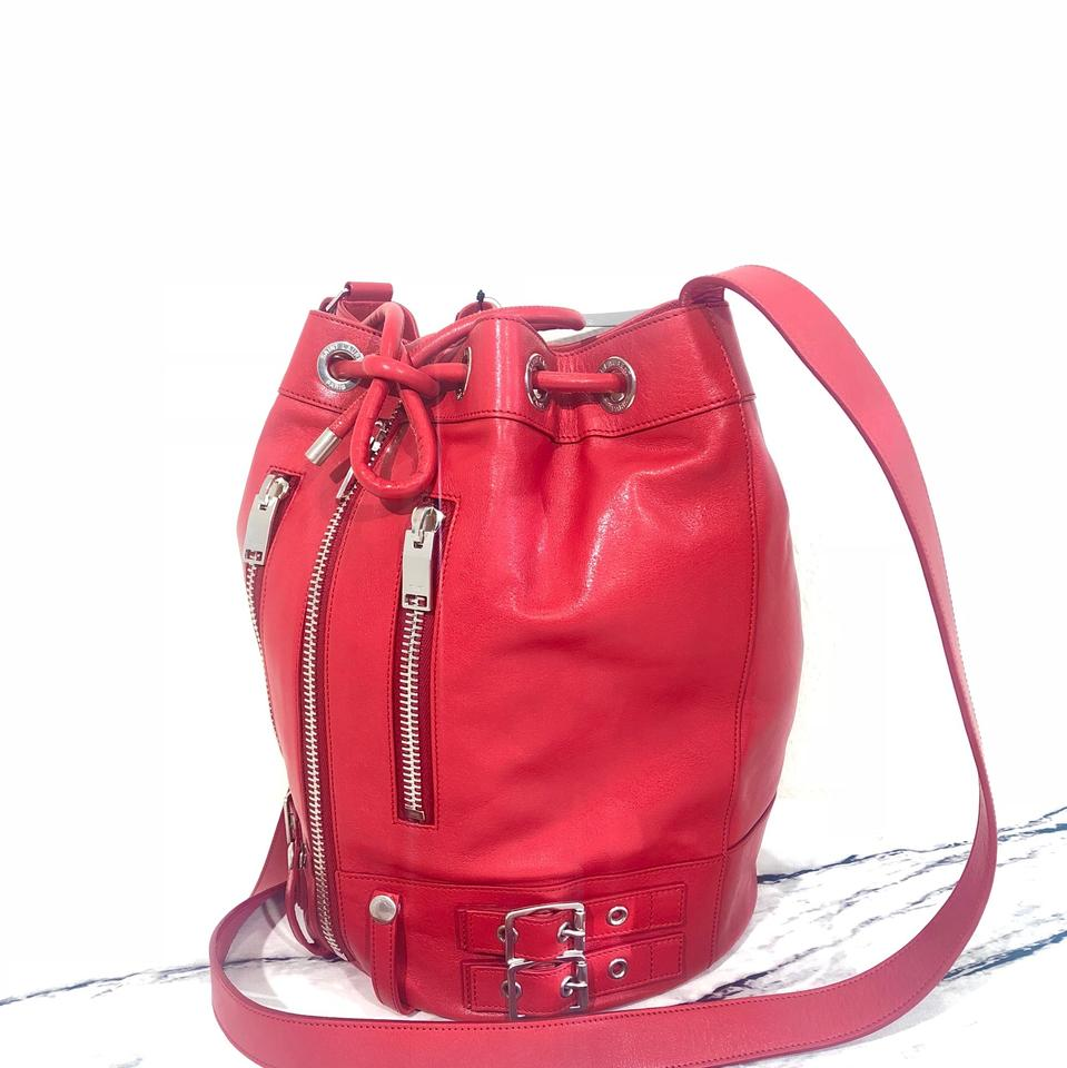 Hardware Hobo Silver with Red Grosgrain tone and Saint Leather Bag Laurent 1 Calfskin Lining 7gwqtzB0