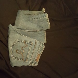 Dollhouse Boot Cut Jeans-Distressed