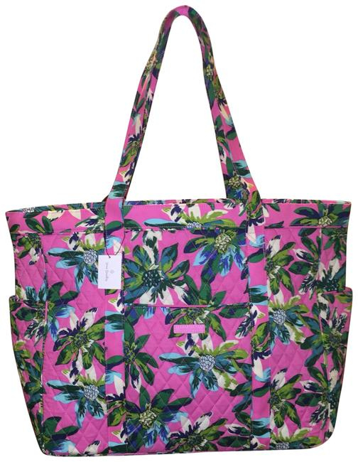 Item - Get Carried Away Tropical Paradise Multicolor Cotton Tote