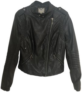 Black Swan Leather Moto Motorcycle Jacket